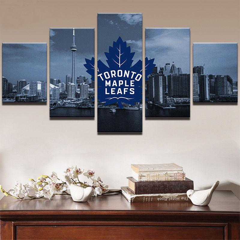 5 Piece Toronto Maple Leafs Print Ice Hockey Canvas - It Make Your Day