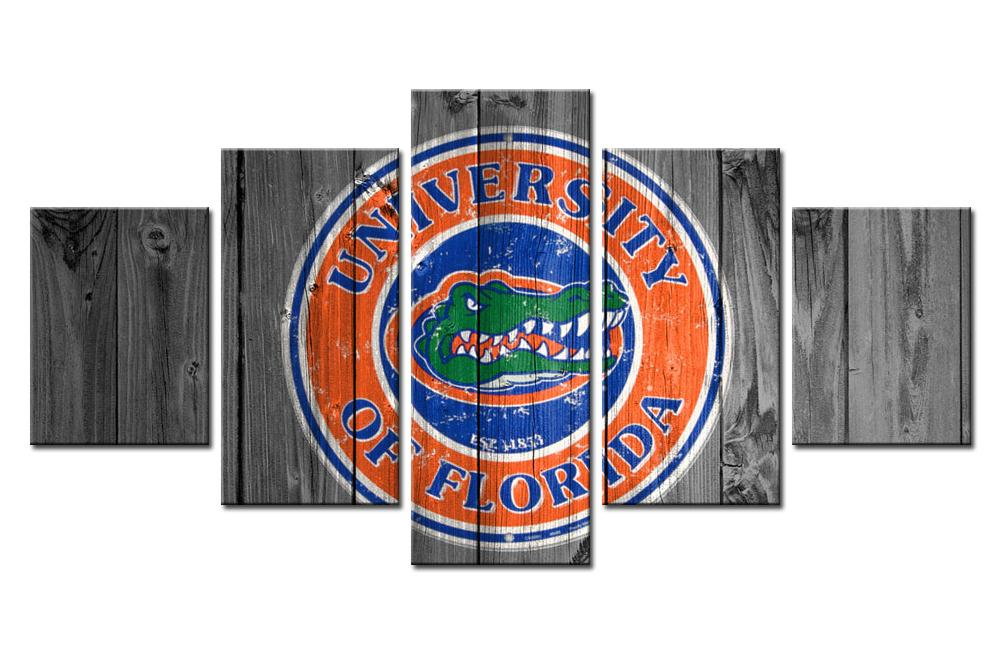 5 Piece Florida Gators Football Sports Canvas - It Make Your Day