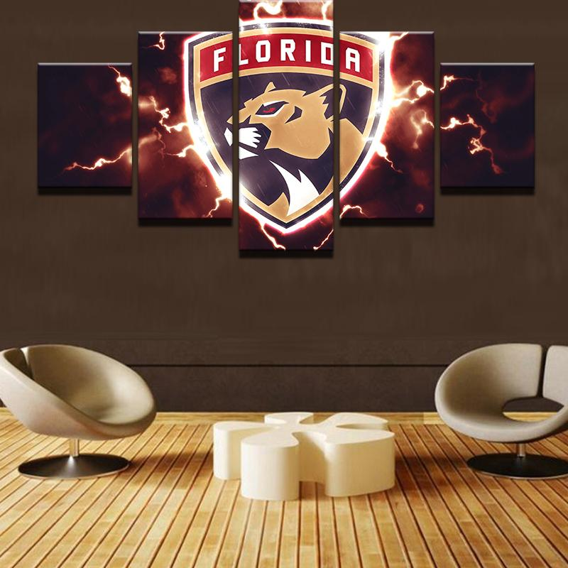 5 Piece Florida Panthers Hockey Canvas - It Make Your Day