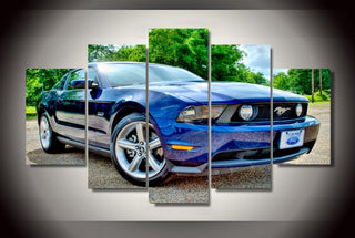 5 Pieces Ford Mustang Cars Canvas Paintings - It Make Your Day