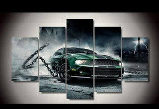 5 Pieces Shelby Mustang Car Canvas - It Make Your Day