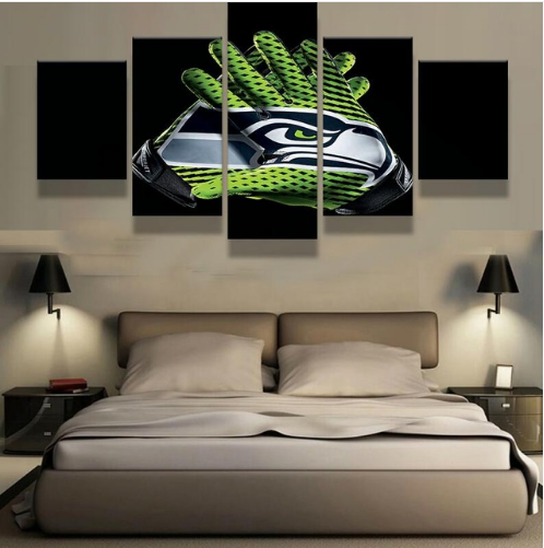 5 Panel Seattle Seahawks HD Paintings Canvas - It Make Your Day