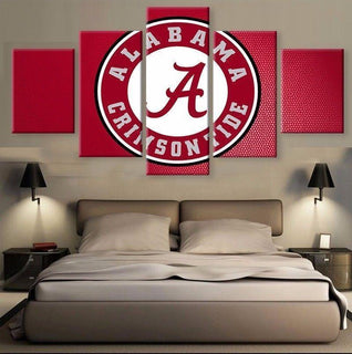Alabama Crimson Tide 1 - 5 Pieces Canvas Prints Wall Art Home Decor