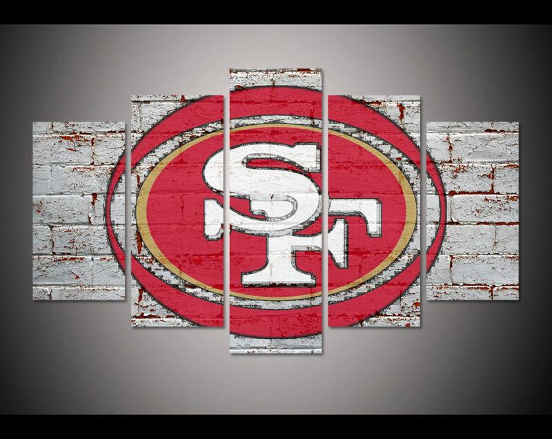 5 Piece San Francisco 49ers Football Printed Canvas - It Make Your Day