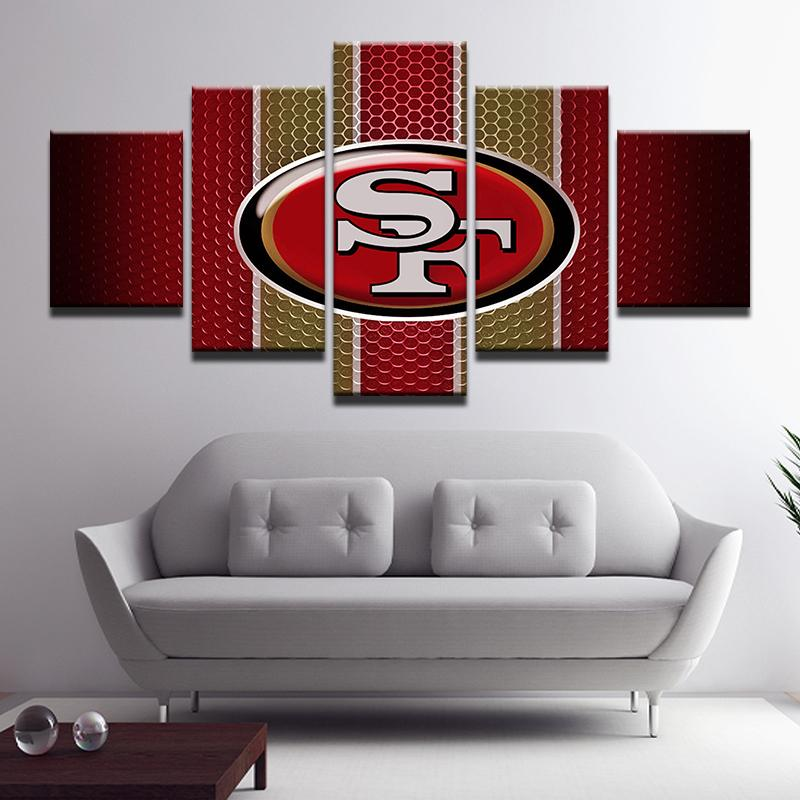 5 Piece San Francisco 49ers Sport Team Modular Canvas - It Make Your Day