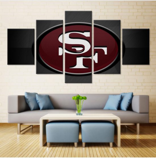 5 Piece San Francisco 49ers Sports Boys Canvas - It Make Your Day
