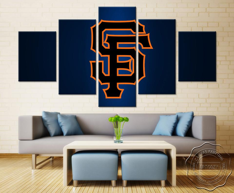 5 Piece San Francisco 49ers Team HD Printed Canvas - It Make Your Day