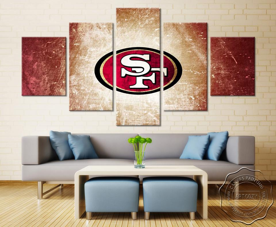 5 Piece San Francisco 49ers Team Picture Canvas - It Make Your Day