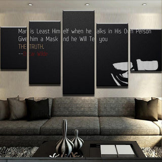 5 Piece Give A Man Canvas Wall Art Paintings - It Make Your Day