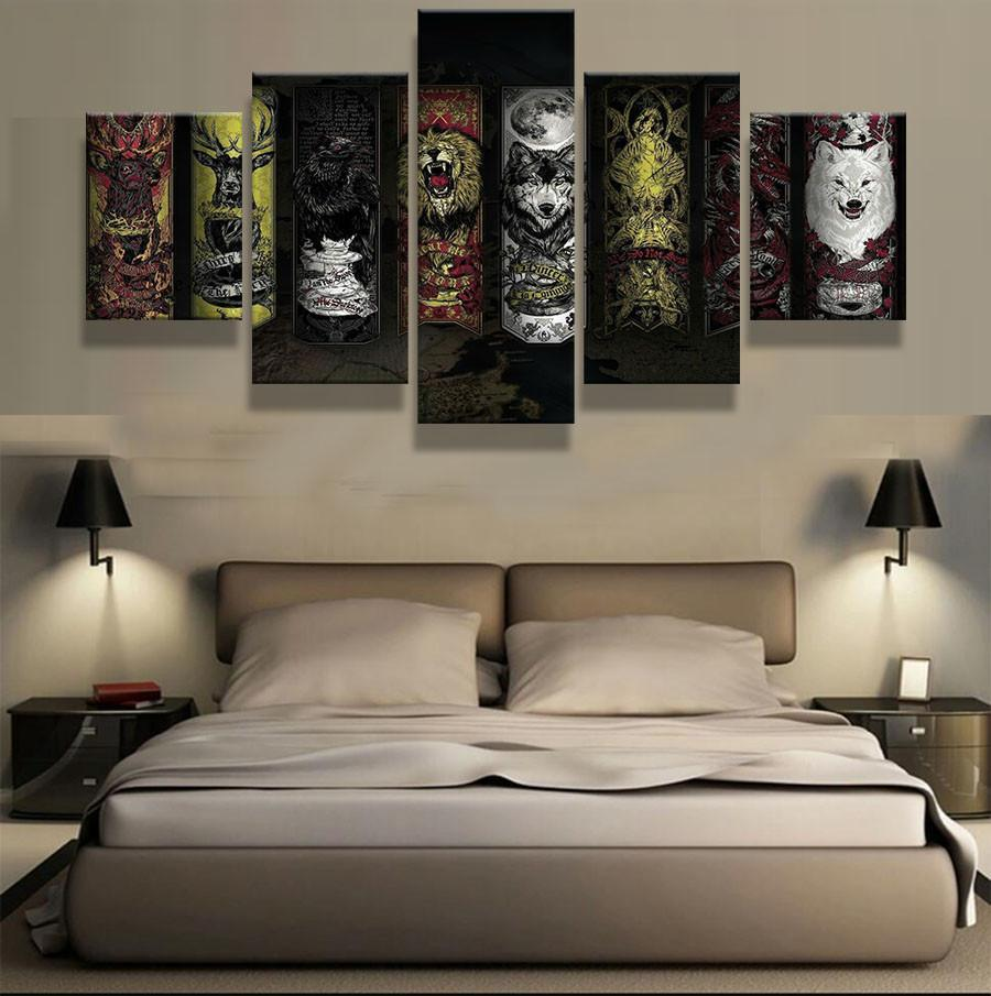 5 Piece Got Houses Canvas Wall Art Paintings - It Make Your Day