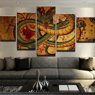 5 Piece Great Shenron Canvas Wall Art Paintings - It Make Your Day