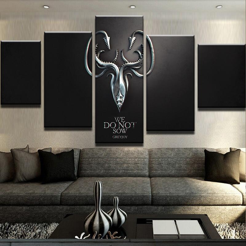5 Piece Greyjoy Canvas Wall Art Paintings - It Make Your Day