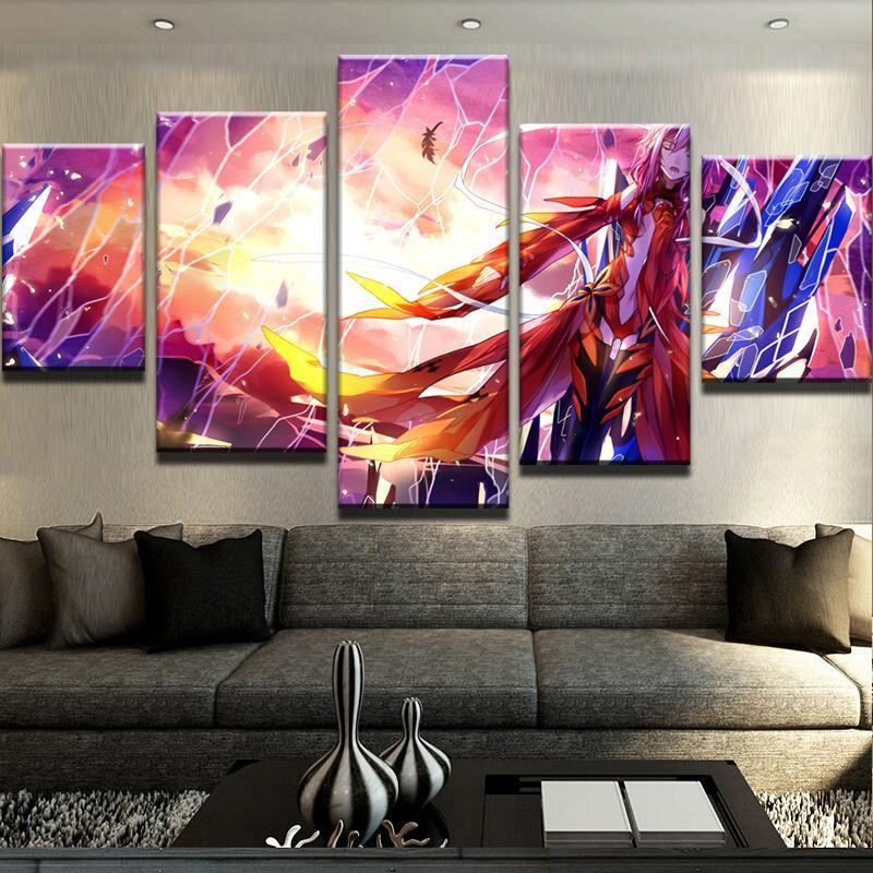 5 Piece Guilty Crown Canvas Wall Art Paintings - It Make Your Day