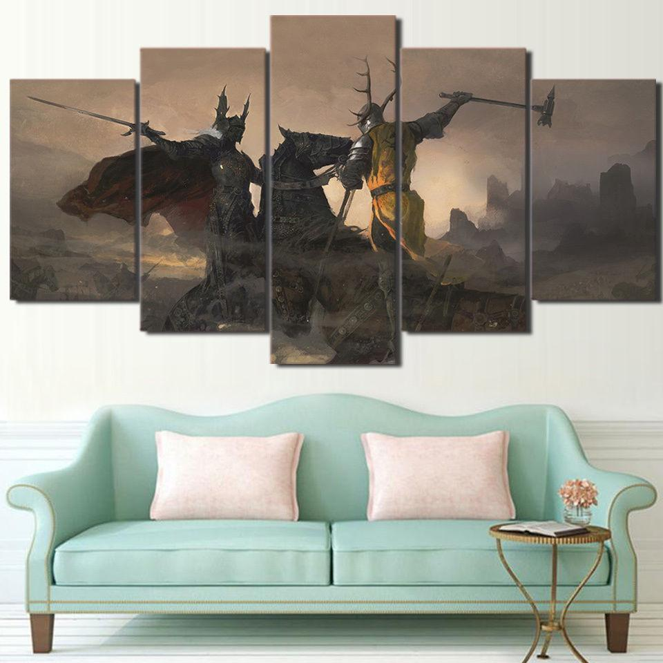 5 Piece Game Of Thrones The Battle of the Trident Canvas Painting Wall Art - It Make Your Day