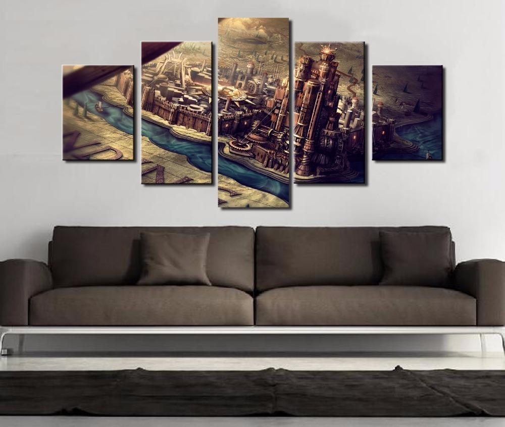 5 Piece Game of Thrones City Movie Canvas Painting Wall Art - It Make Your Day