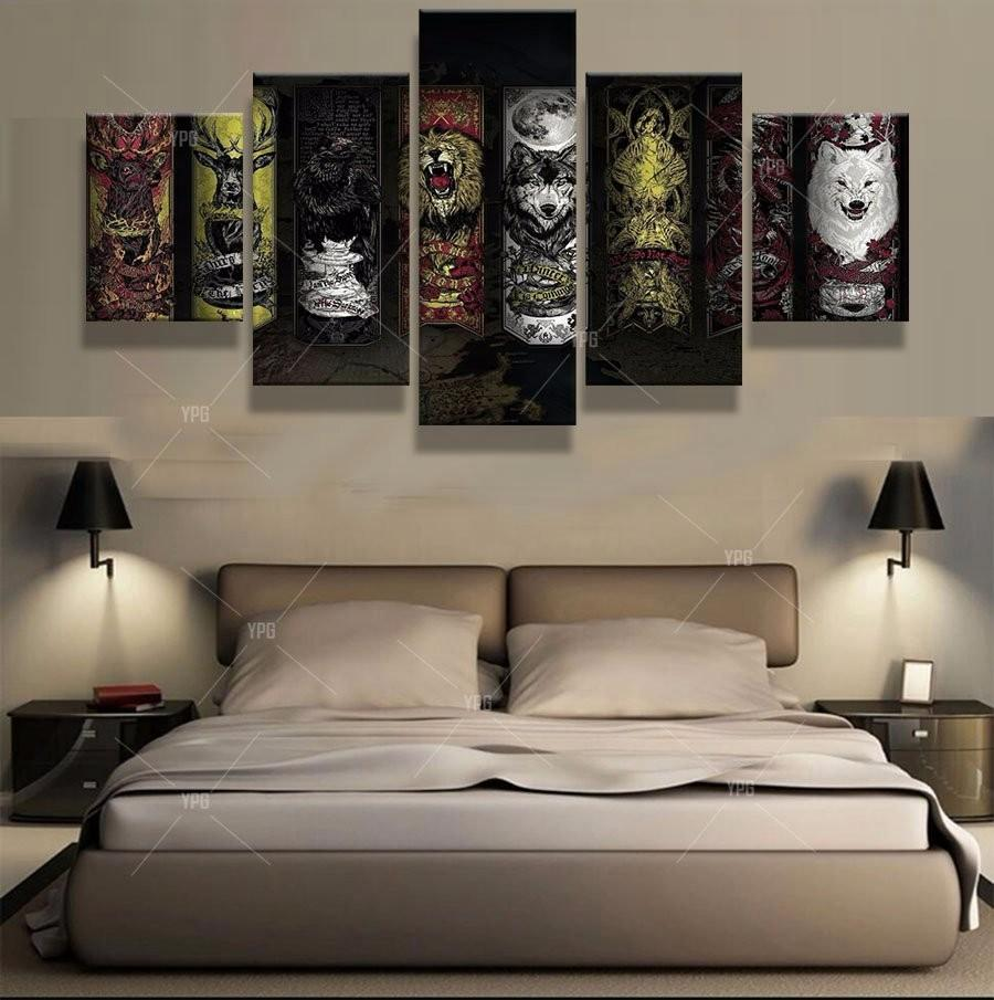 5 Piece Game of Thrones Spiritual House Canvas Painting Wall Art - It Make Your Day