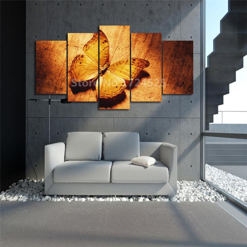 framed 5 piece golf butterfly canvas wall art sets it. Black Bedroom Furniture Sets. Home Design Ideas