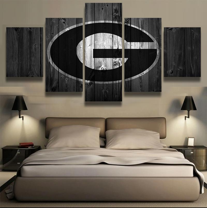 5 Piece Green Bay Packers Football American Canvas Painting Wall Art   It  Make Your Day