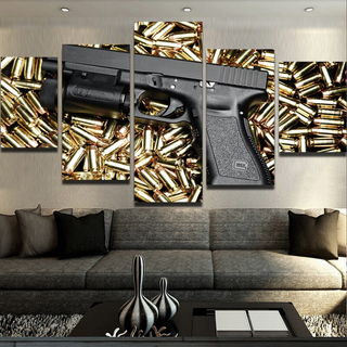 5 Piece Handgun Canvas Wall Art Paintings - It Make Your Day