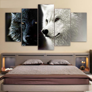 Black White Wolf Couple - It Make Your Day