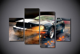 4 Pieces Ford Mustang Shelby Cars Canvas Wall Art Paintings - It Make Your Day