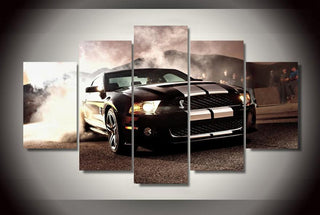 5 Pieces Ford Mustang Car Canvas Wall Art - It Make Your Day