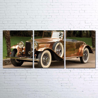 3 Piece Hot Rod Vintage Car Canvas Wall Art Sets - It Make Your Day