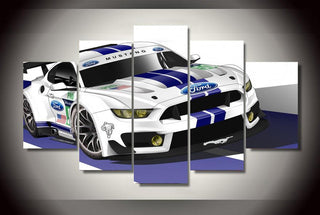 5 Pieces Ford Mustang Cars Canvas - It Make Your Day
