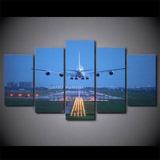 5 Piece Airplane Blue Sky Canvas Paintings - It Make Your Day