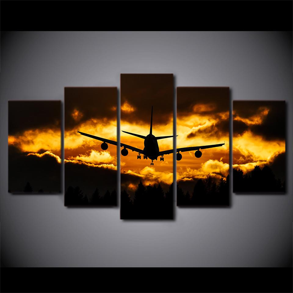Airplane Prints Sunset - It Make Your Day