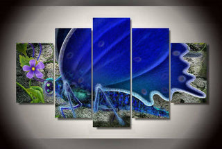 Framed 5 Piece Abstract Butterfly Canvas Wall Art Sets - It Make Your Day