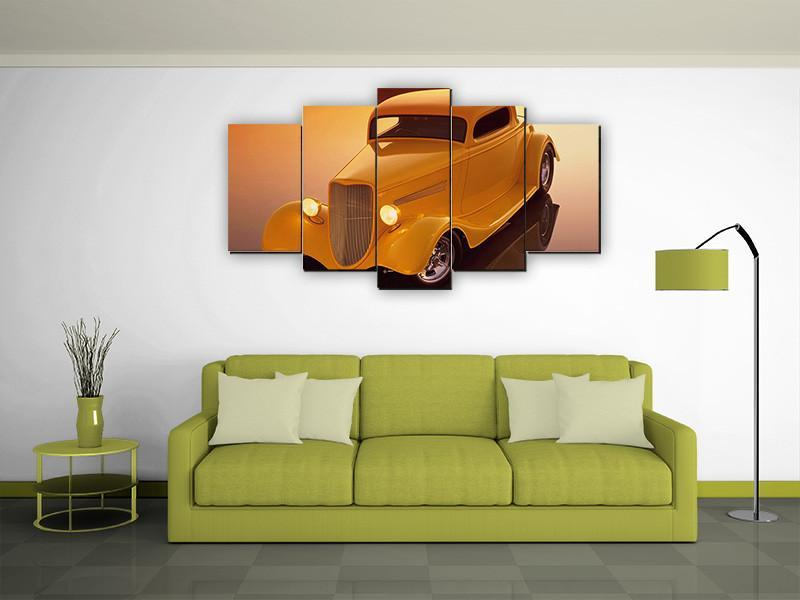 5 Pieces Classic Hot Rod Wall Canvas - It Make Your Day