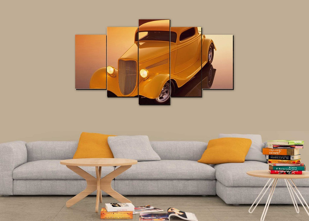 5 Pieces Classic Hot Rod Wall Canvas