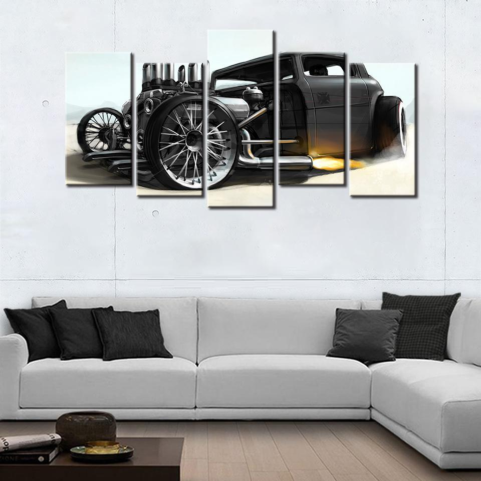 5 Piece Ford Hot Rod Canvas Wall Art Paintings For Sale – It Make ...