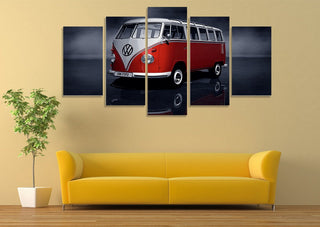 5 Pieces Volkswagen Beetle Car Canvas Prints - It Make Your Day