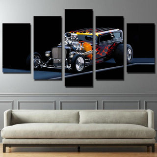 5 Pieces Hot Rod Car Prints Canvas - It Make Your Day