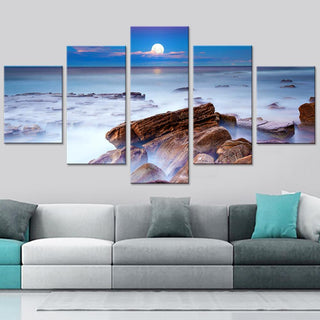 5 Piece Hazy Sea Ocean Canvas Paintings - It Make Your Day