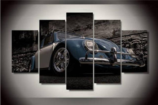 5 Pieces HD Print Volkswagen Beetle Car Canvas - It Make Your Day