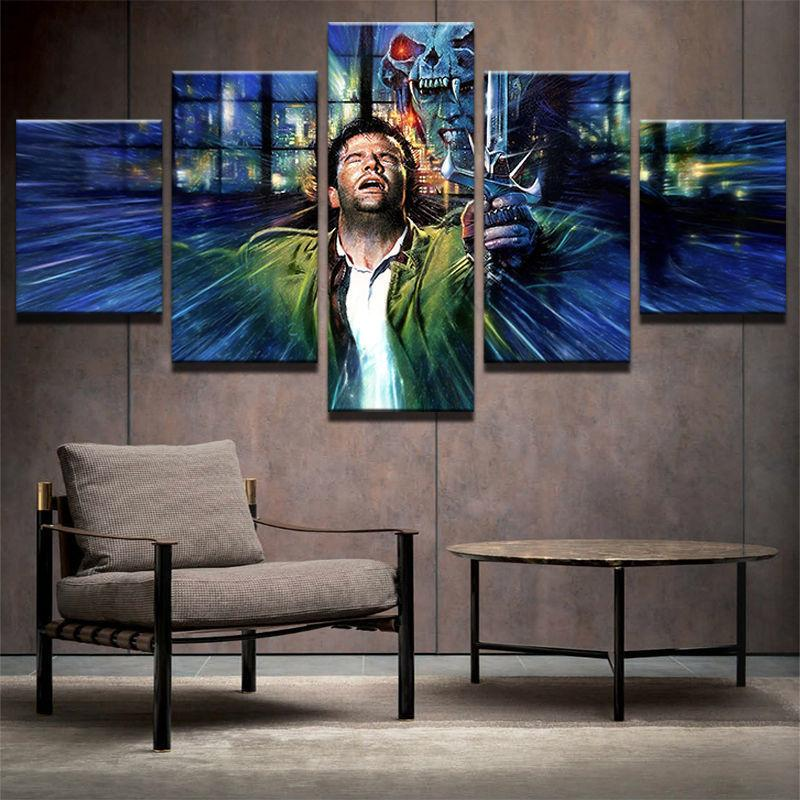 5 Piece Highlander Movie Film Character Canvas Painting Wall Art - It Make Your Day