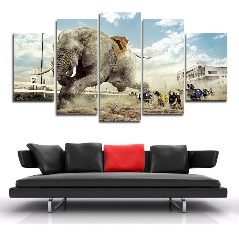 5 Pieces Funny Elephant And Dogs Race - It Make Your Day