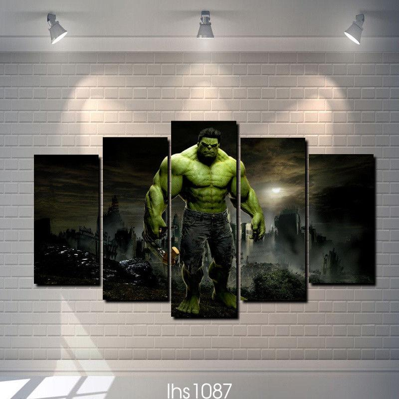 5 Panel Hulk The Marvel Movie Canvas Wall Art Painting Sets - It Make Your Day