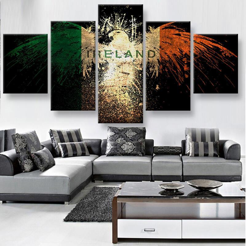 5 Piece Ireland Eagle Canvas Wall Art Paintings - It Make Your Day