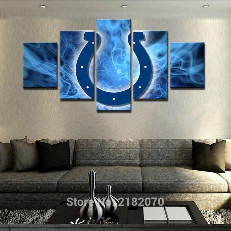 5 Piece Indianapolis Colts American Football Canvas Painting Wall Art - It Make Your Day