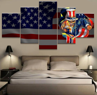 Iron Maiden American Flag Canvas Painting Wall Art - It Make Your Day