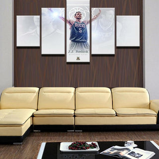 5 Piece J.J. Redick Philadelphia 76ers Prints Canvas Paintings - It Make Your Day