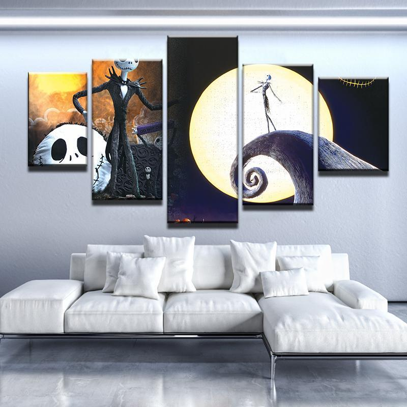 5 Piece Jack Mash Up Canvas Wall Art Paintings - It Make Your Day