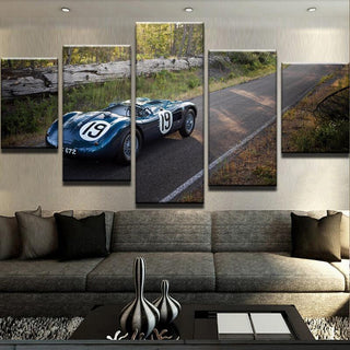 5 Piece Jaguar C Type Car Canvas Wall Art Paintings - It Make Your Day