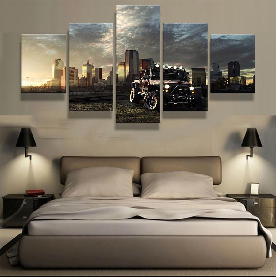 5 Piece Jeep Car Lovers Canvas Wall Art Paintings - It Make Your Day