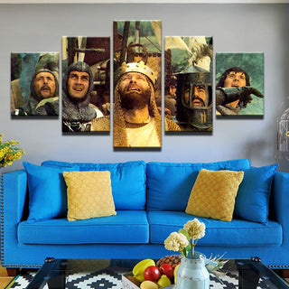 5 Piece The Holy Grail Movie Print Canvas Wall Art Paintings - It Make Your Day
