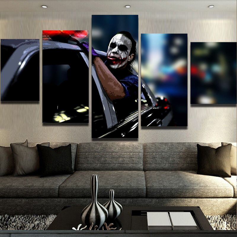 5 Piece Joker Freedom Movie Canvas Wall Art Paintings - It Make Your Day
